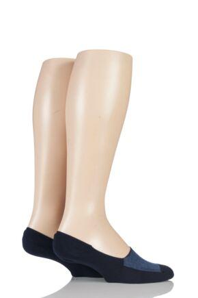 Mens 2 Pair Levis 168LS Plain Cotton No Show Socks