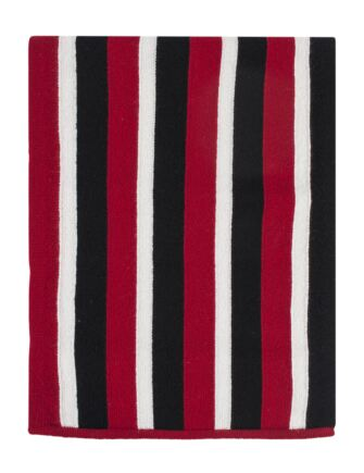 Mens Great and British Knitwear 100% Lambswool College Stripe Scarf. Made In Scotland