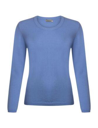 Ladies Great & British Knitwear 100% Extrafine Lambswool Round Neck Jumper