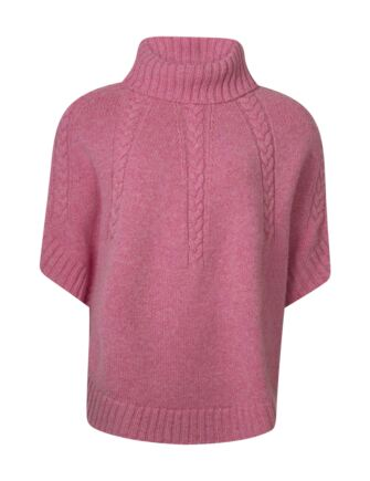 Ladies Great & British Knitwear 100% Lambswool Cowl Neck Cape Nougat One Size