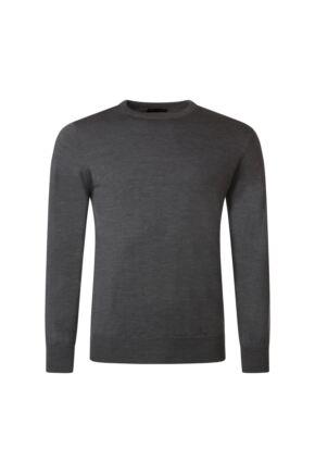 Mens Great & British Knitwear 100% Merino Plain Crew Neck Jumper Metallic E Extra Large