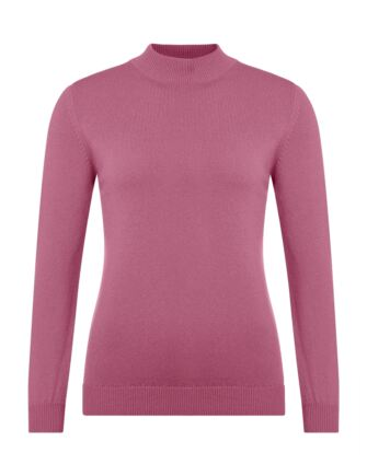 Ladies Great & British Knitwear 100% Lambswool Mock Turtle Neck Jumper Nougat Small