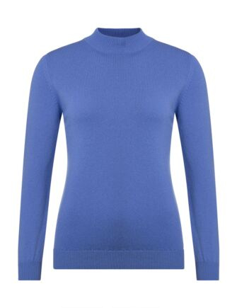 Ladies Great & British Knitwear 100% Lambswool Mock Turtle Neck Jumper