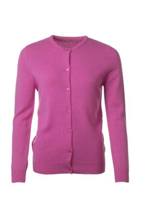Ladies Great & British Knitwear 100% Lambswool Golfer Cardigan Cabaret B Small