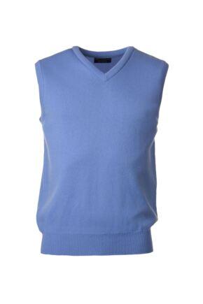 Mens Great & British Knitwear 100% Lambswool Plain V Neck Slipover