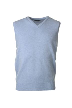 Mens Great & British Knitwear 100% Lambswool Plain V Neck Slipover
