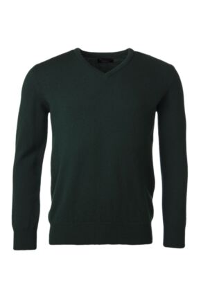 Mens Great & British Knitwear 100% Lambswool Plain V Neck Jumper Browns and Greens