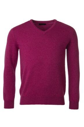 Mens Great & British Knitwear 100% Lambswool Plain V Neck Jumper Vegas E Extra Large