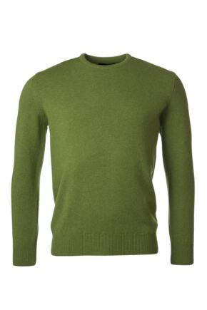 Mens Great & British Knitwear 100% Lambswool Plain Crew Neck Jumper Browns and Greens Chameleon E Extra Large