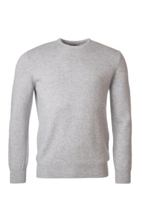 Mens Great & British Knitwear 100% Lambswool Plain Crew Neck Jumper Blacks and Greys