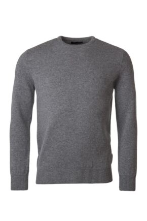Mens Great & British Knitwear 100% Lambswool Plain Crew Neck Jumper Blacks and Greys Dove Grey C Medium