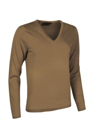 Ladies Great & British Knitwear Made In Scotland 100% Cashmere V Neck Browns and Greens