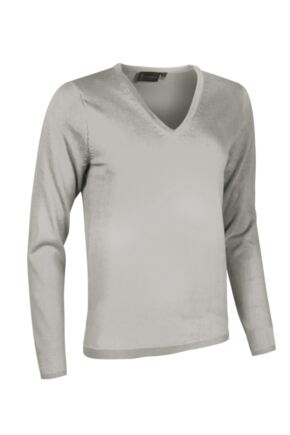 Ladies Great & British Knitwear Made In Scotland 100% Cashmere V Neck Blacks and Greys