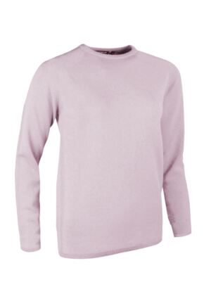 Ladies Great & British Knitwear Made In Scotland 100% Cashmere Round Neck Pinks and Purples Fondant Extra Small