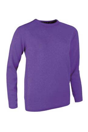 Ladies Great & British Knitwear Made In Scotland 100% Cashmere Round Neck Pinks and Purples Regalia Medium