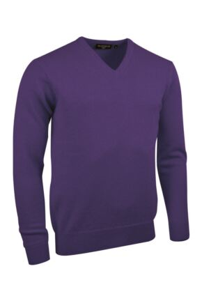 Mens Great & British Knitwear Made In Scotland 100% Cashmere V Neck Regalia Extra Large