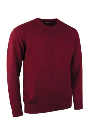 Mens Great & British Knitwear Made In Scotland 100% Cashmere Crew Neck Claret XX Large
