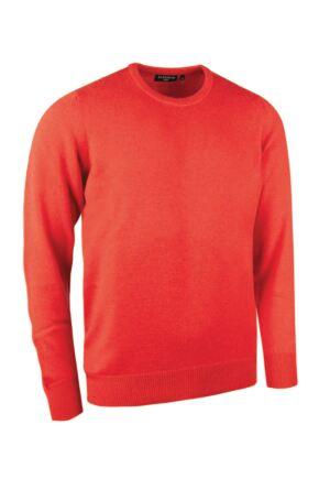 Mens Great & British Knitwear Made In Scotland 100% Cashmere Crew Neck Geranium Medium