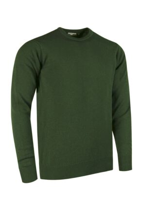 Mens Great & British Knitwear Made In Scotland 100% Cashmere Crew Neck Serpentine Extra Large
