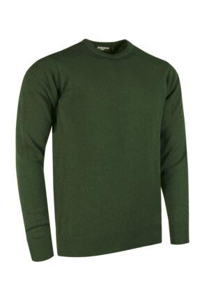 Mens Great & British Knitwear Made In Scotland 100% Cashmere Crew Neck Serpentine Large