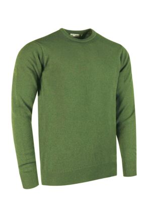 Mens Great & British Knitwear Made In Scotland 100% Cashmere Crew Neck Foliage XX Large