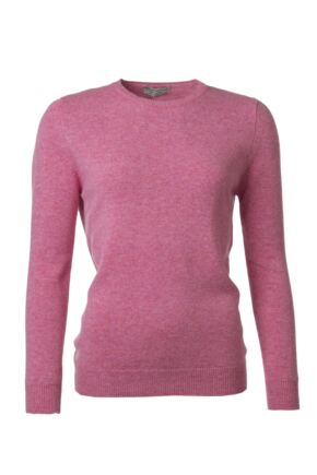 Ladies Great & British Knitwear 100% Lambswool Plain Round Neck Jumper Nougat B Small