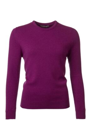 Ladies Great & British Knitwear 100% Lambswool Plain Round Neck Jumper Empire B Small