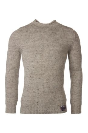 Mens Great & British Knitwear 100% British Wool High Neck Slimfit Jumper