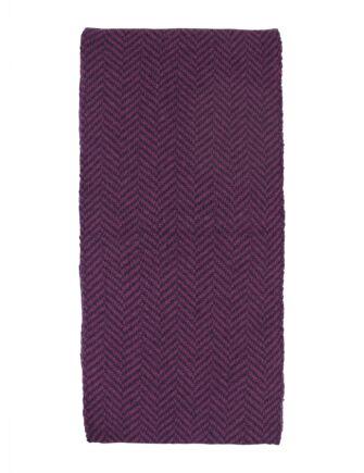 Mens Great and British Knitwear 100% Merino Herringbone Scarf. Made In Scotland
