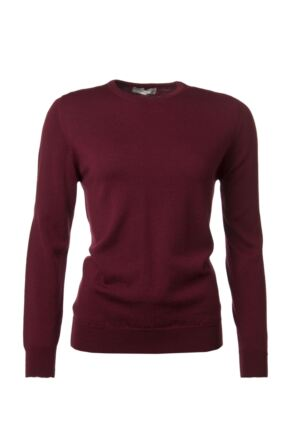 Ladies Great & British Knitwear 100% Merino Round Neck Jumper Bordeaux E Extra Large