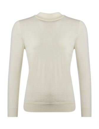 Ladies Great & British Knitwear 100% Merino Mock Turtle Neck Jumper Arctic White E Extra Large