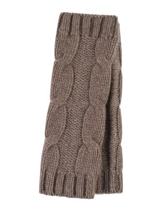 Ladies Great and British Knitwear 100% Cashmere Cable Knit Fingerless Gloves. Made In Scotland