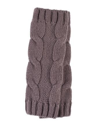 Ladies Great and British Knitwear 100% Cashmere Cable Knit Fingerless Gloves. Made In Scotland Clay One Size