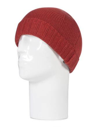Mens Great and British Knitwear 100% Cashmere Plain Knit Hat. Made In Scotland Brandy Snap One Size