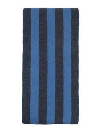 Mens Great and British Knitwear 100% Cashmere College Stripe Scarf. Made In Scotland