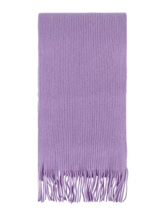 Ladies and Mens Great and British Knitwear 100% Cashmere Plain Knit Scarf With Fringe Clover One Size