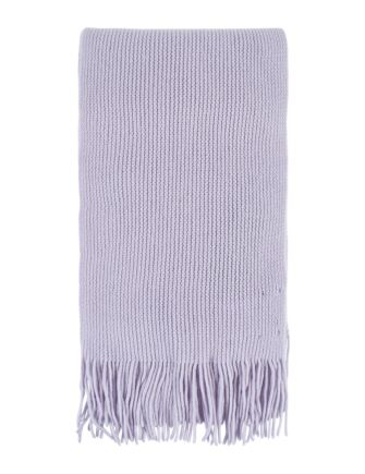 Ladies and Mens Great and British Knitwear 100% Cashmere Plain Knit Scarf With Fringe