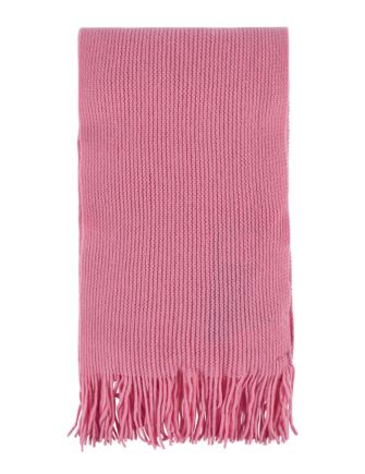 Ladies and Mens Great and British Knitwear 100% Cashmere Plain Knit Scarf With Fringe Coulis One Size