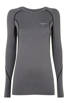 Mens 1 Pack Glenmuir Long Sleeved Compression Base Layer T-Shirt Charcoal L