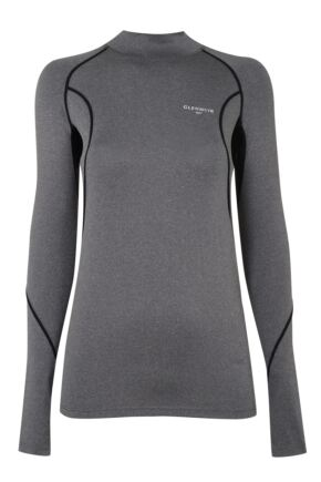 Mens 1 Pack Glenmuir Long Sleeved High Neck Compression Base Layer T-Shirt