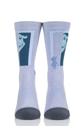 Mens and Ladies 1 Pair Stance Sully And Boo Cotton Socks Purple 5.5-8 Mens