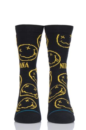 Mens and Ladies 1 Pair Stance Nirvana Face Cotton Socks