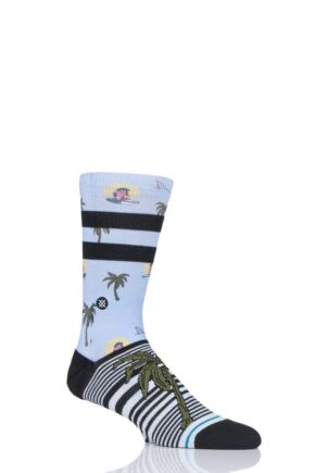 Mens and Ladies 1 Pair Stance Aloha Monkey St Cotton Socks