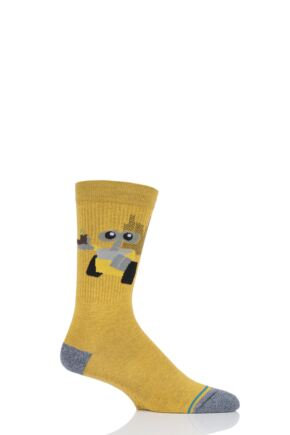 Mens and Ladies 1 Pair Stance Wall E Cotton Socks Orange 5.5-8 Mens