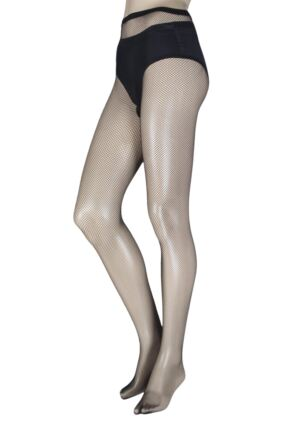 Ladies 1 Pair Trasparenze Ambra Micro Fishnet Tights