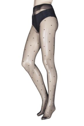 Ladies 1 Pair Trasparenze Anguria Spotted Tights