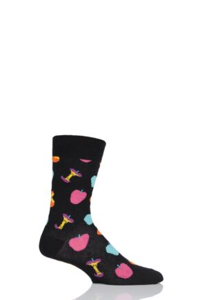 Mens and Ladies 1 Pair Happy Socks Vitamins Apple Combed Cotton Socks