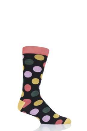 Mens and Ladies 1 Pair Shared Earth Fair Trade Bamboo Polka Dots Socks