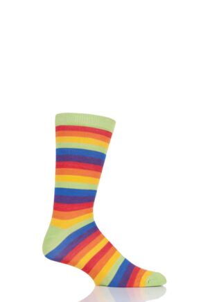 Mens and Ladies 1 Pair Shared Earth Rainbow Fair Trade Bamboo Socks