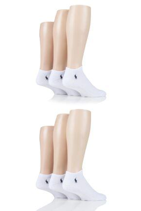 Mens 6 Pair Ralph Lauren Cotton Sports Trainer Socks